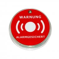 LED warning sticker for window and door