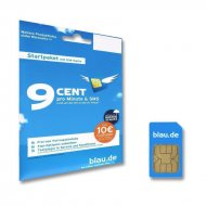 SIM card Blau.de incl. 10 Euro starting balance