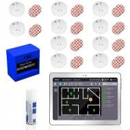 SmokeTab fire alarm panel with wireless smoke detector 10 x wireless smoke detector