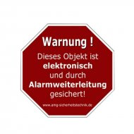 Warning sticker red