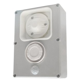 12V shocksound siren 433MHz, extreme pulse tone approx. 120 dB and motion detector control
