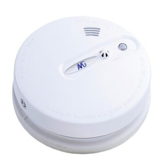 Wireless smoke detector with heat detector